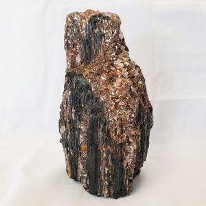 Black Tourmaline with Mica Decor Display Piece